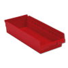 "17-7/8"" L x 8-3/8"" W x 4"" Hgt. Red Shelf Bin"