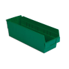 "17-7/8"" L x 6-5/8"" W x 6"" H Green Shelf Bin"