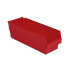 "17-7/8"" L x 6-5/8"" W x 6"" H Red Shelf Bin"