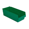 "17-7/8"" L x 8-3/8"" W x 6"" H Green Shelf Bin"