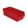 "17-7/8"" L x 8-3/8"" W x 6"" Hgt. Red Shelf Bin"
