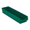 "23-5/8"" L x 6-5/8"" W x 4"" Hgt. Green Shelf Bin"