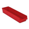 "23-5/8"" L x 6-5/8"" W x 4"" Hgt. Red Shelf Bin"