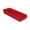 "23-5/8"" L x 8-3/8"" W x 4"" H Red Shelf Bin"