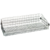 "Chrome Basket Shelves 48"" L x 24"" W x 10"" H"