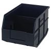 "12"" L x 8-1/4"" W x 7"" Hgt. Quantum® Black Stackable Shelf Bin"