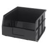 "12"" L x 11"" W x 7"" Hgt. Quantum® Black Stackable Shelf Bin"