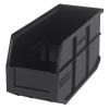 "14"" L x 6"" W x 7"" Hgt. Quantum® Black Stackable Shelf Bin"