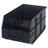 "14"" L x 8-1/4"" W x 7"" Hgt. Quantum® Black Stackable Shelf Bin"