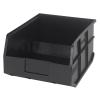 "14"" L x 11"" W x 7"" Hgt. Quantum® Black Stackable Shelf Bin"