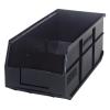 "18"" L x 8-1/4"" W x 7"" Hgt. Quantum® Black Stackable Shelf Bin"