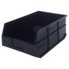 "18"" L x 11"" W x 7"" Hgt. Quantum® Black Stackable Shelf Bin"