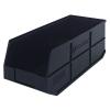 "20-1/2"" L x 8-1/4"" W x 7"" Hgt. Quantum® Black Stackable Shelf Bin"
