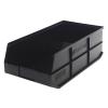 "20-1/2"" L x 11"" W x 7"" Hgt. Quantum® Black Stackable Shelf Bin"