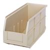 "14"" L x 6"" W x 7"" Hgt. Quantum® Ivory Stackable Shelf Bin"