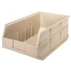 "18"" L x 11"" W x 7"" Hgt. Quantum® Ivory Stackable Shelf Bin"