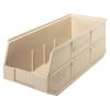 "20-1/2"" L x 8-1/4"" W x 7"" Hgt. Quantum® Ivory Stackable Shelf Bin"