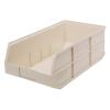 "20-1/2"" L x 11"" W x 7"" Hgt. Quantum® Ivory Stackable Shelf Bin"