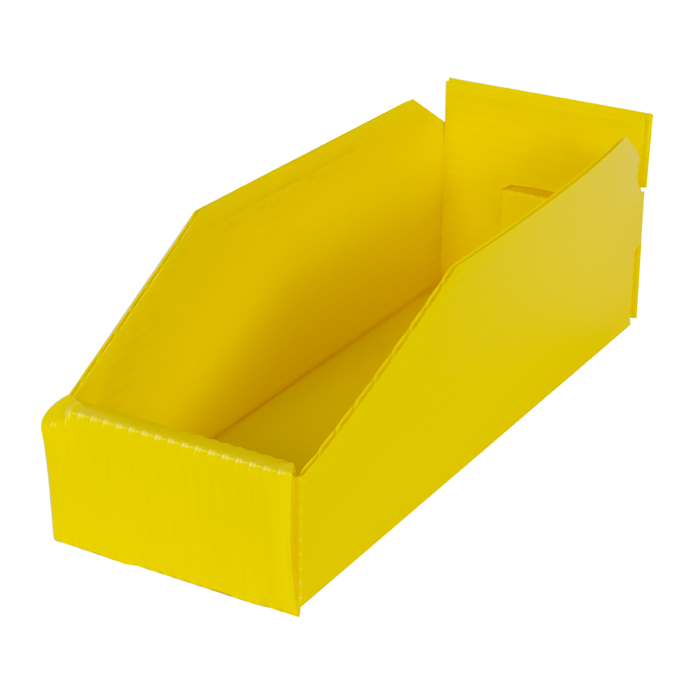 """4"""" Wide Corrugated Plastic Bins for 12"""" Shelving 11-3/4"""" L x 4"""" W x 4"""" Hgt."""