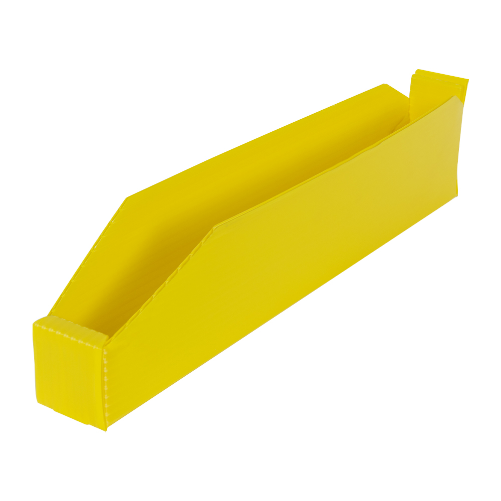 """2"""" Wide Corrugated Plastic Bins for 18"""" Shelving 17-3/4"""" L x 2"""" W x 4"""" Hgt."""