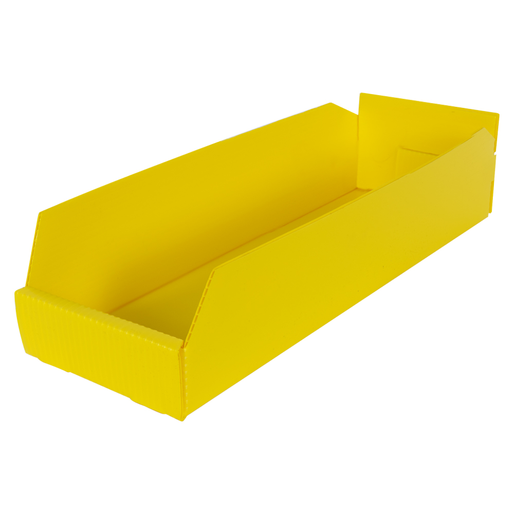 "6"" Wide Corrugated Plastic Bins for 18"" Shelving 17-3/4"" L x 6"" W x 4"" Hgt."