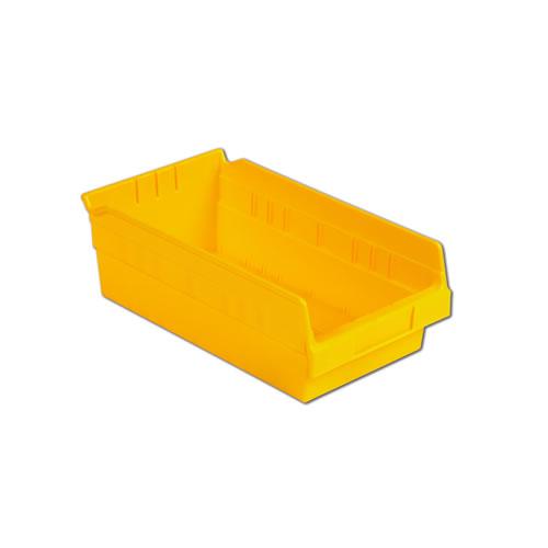 "11-5/8"" L x 6-5/8"" W x 4"" Hgt. Yellow Shelf Bin"