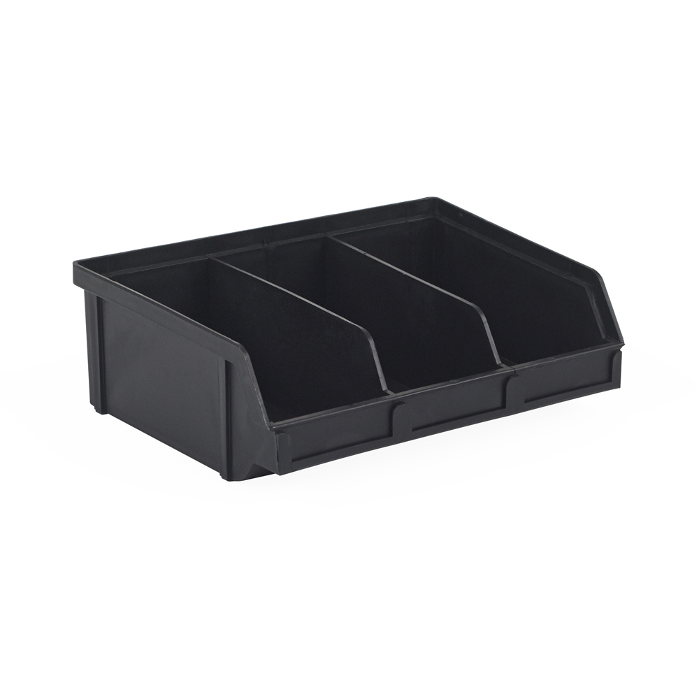"6.6"" x 8.8"" x 2.9"" ESD-Safe Parts Bin with Divider"