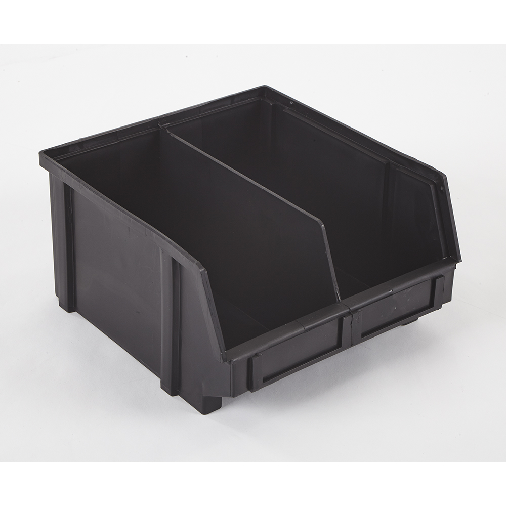 """9.3"""" x 8.8"""" x 5"""" ESD-Safe Parts Bin with Divider"""