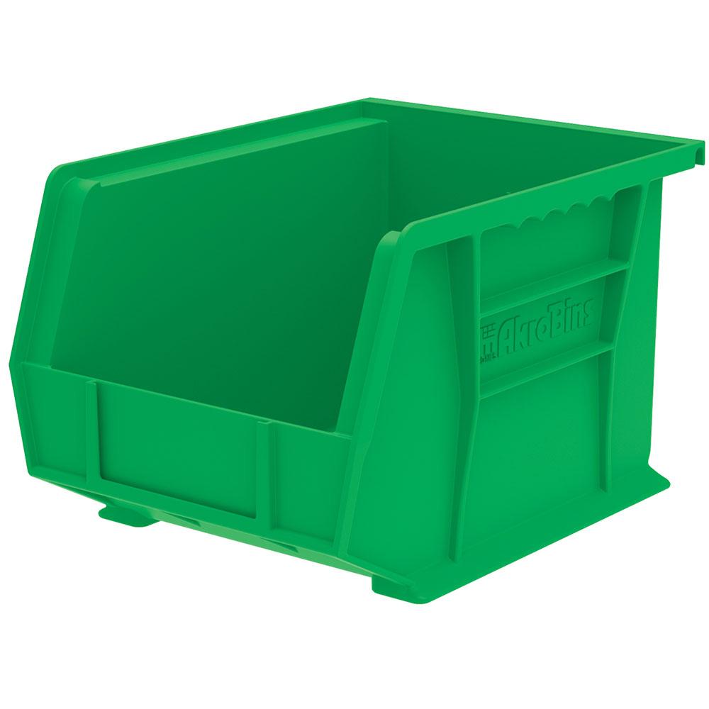 "10-3/4"" L x 8-1/4"" W x 7"" Hgt. OD Green Storage Bin"