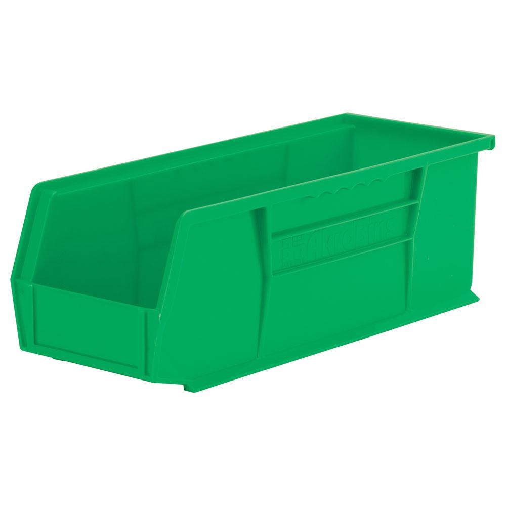 "14-3/4"" L x 5-1/2"" W x 5"" Hgt. OD Green Storage Bin"