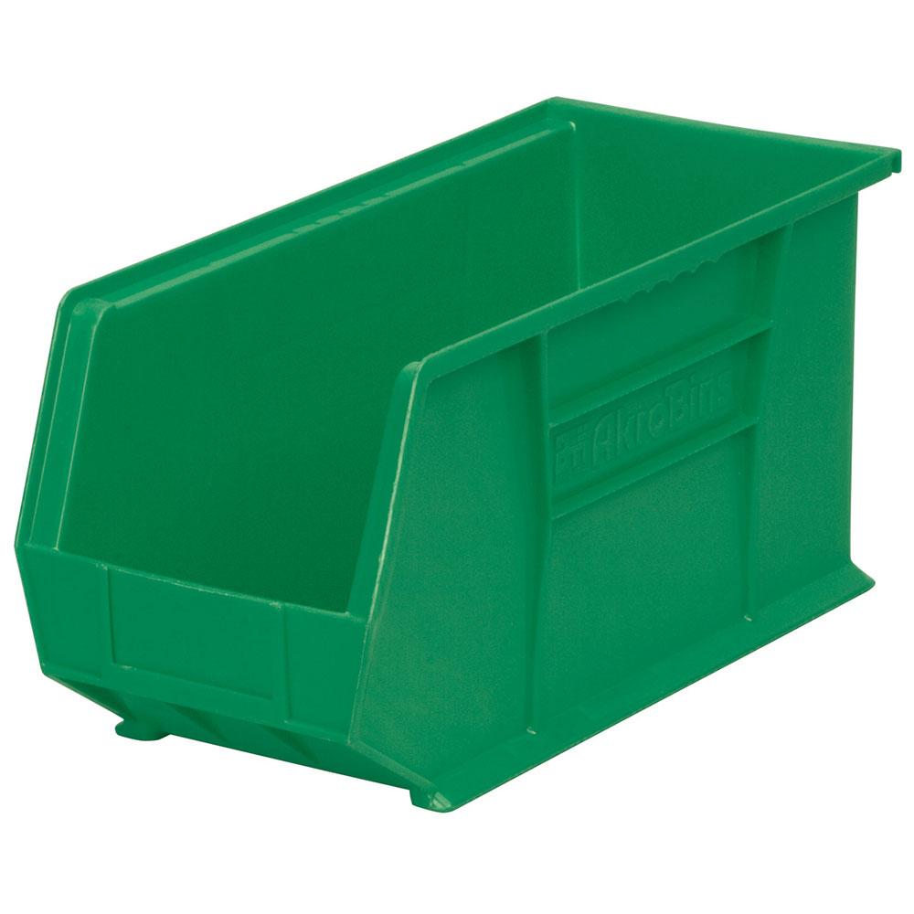 "18"" L x 8-1/4"" W x 9"" Hgt. OD Green Storage Bin"