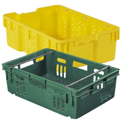 LEWISBins+Stack-N-Nest Ventilated Agricultural Containers