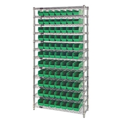 Quantum® Small Parts Shelf Bin System