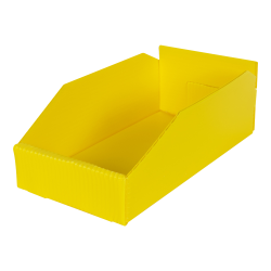 "6"" Wide Corrugated Plastic Bins for 12"" Shelving 11-3/4"" L x 6"" W x 4"" Hgt."