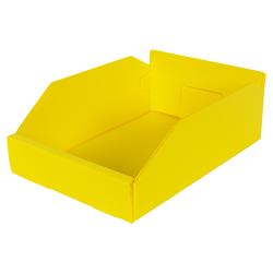 "8"" Wide Corrugated Plastic Bins for 12"" Shelving 11-3/4"" L x 8"" W x 4"" Hgt."