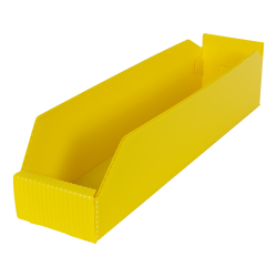 "4"" Wide Corrugated Plastic Bins for 18"" Shelving 17-3/4"" L x 4"" W x 4"" Hgt."