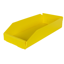 "8"" Wide Corrugated Plastic Bins for 18"" Shelving 17-3/4"" L x 8"" W x 4"" Hgt."