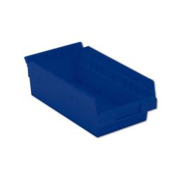 "11-5/8"" L x 6-5/8"" W x 4"" Hgt. Blue Shelf Bin"