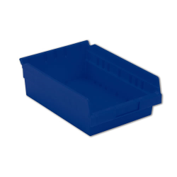 "11-5/8"" L x 8-3/8"" W x 4"" Hgt. Blue Shelf Bin"
