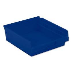 "11-5/8"" L x 11-1/8"" W x 4"" Hgt. Blue Shelf Bin"