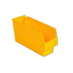 "11-5/8"" L x 4-1/8"" W x 6"" Hgt. Yellow Shelf Bin"