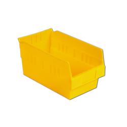 "11-5/8"" L x 6-5/8"" W x 6"" Hgt. Yellow Shelf Bin"