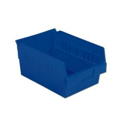 "11-5/8"" L x 8-3/8"" W x 6"" Hgt. Blue Shelf Bin"