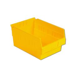 "11-5/8"" L x 8-3/8"" W x 6"" Hgt. Yellow Shelf Bin"