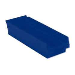 "17-7/8"" L x 6-5/8"" W x 4"" Hgt. Blue Shelf Bin"
