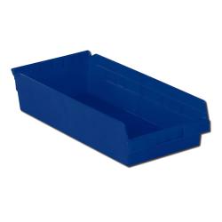 "17-7/8"" L x 8-3/8"" W x 4"" Hgt. Blue Shelf Bin"