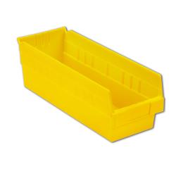 "17-7/8"" L x 6-5/8"" W x 6"" Hgt. Yellow Shelf Bin"