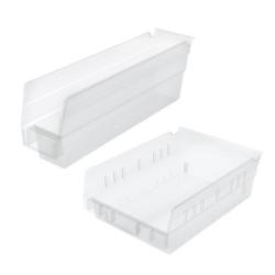Akro-Mils® Clear Storage Shelf Bins & Bin Cups
