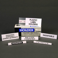 HOL•DEX® Permanent Self-Adhesive Label Holders