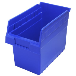 "11-5/8"" L x 6-5/8"" W x 8"" H Blue Store-Max Shelf Bin"